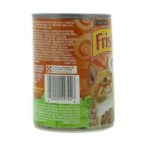 Purina-Friskies--Wet-Can-Pate-Mixed-Grill-Cat-Food-368-g