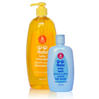 Nunu Baby Shampoo 800ml + Nunu Baby Bath 300ml