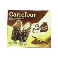 Carrefour Ice Cream Stick Vanilla & Chocolate 60ml x16