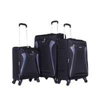 Sonada Trolley Bag Set 3 Pieces Navy Grey And Black