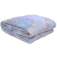 3D Super Soft Flannel Blanket King Blue Grey