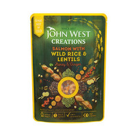 John West Creations Salmon With Wild Rice & Lentils 180GR