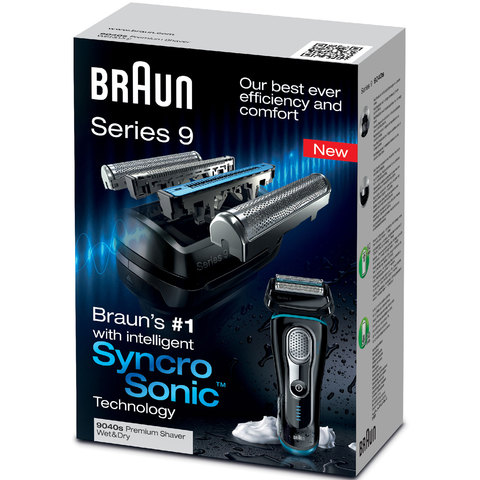Braun-Electric-Shaver-9040-Wet/-Dry