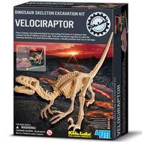 4M Kidz Labs Velociraptor Skeleton