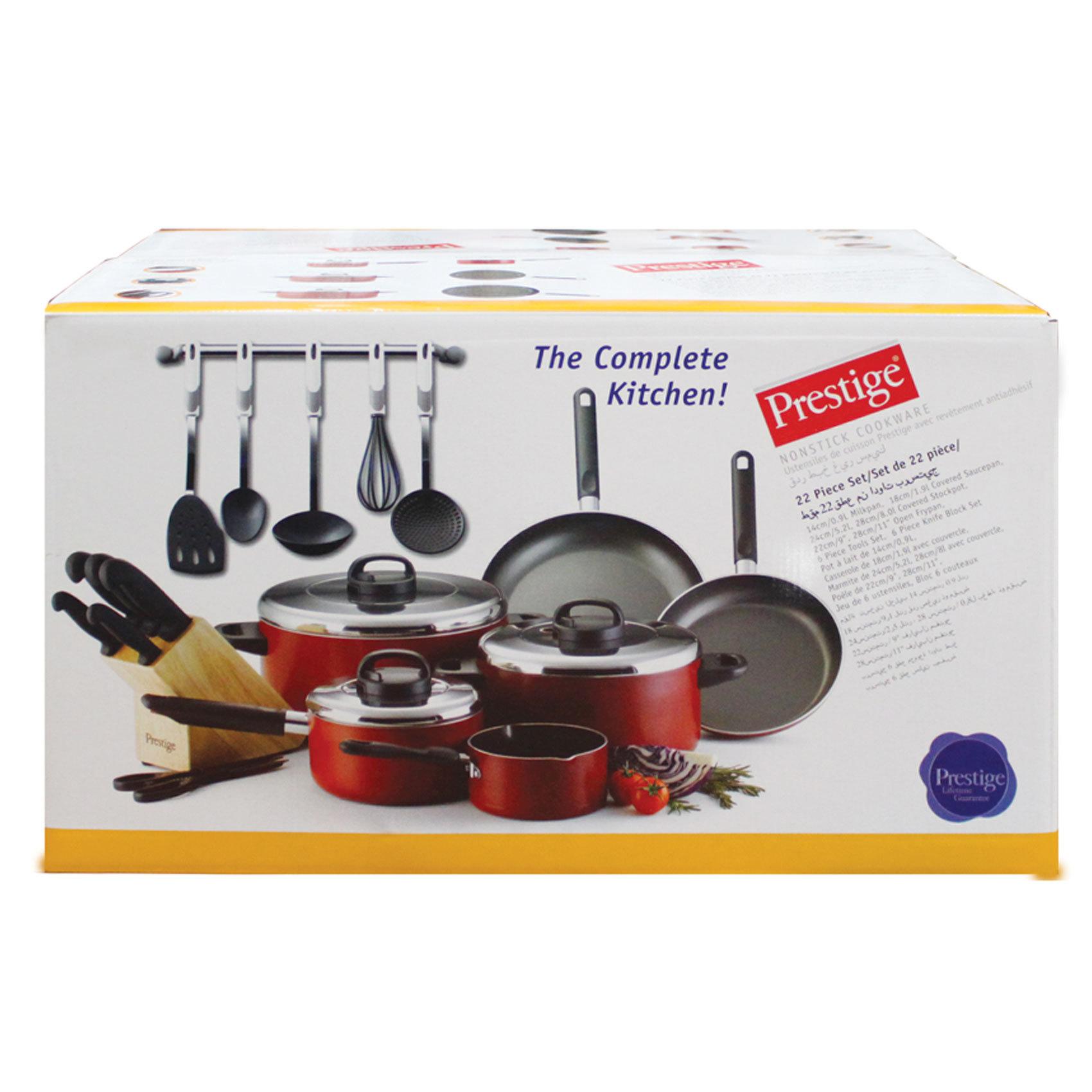 Buy Prestige Cooking Set 22pcs Online in UAE - Carrefour UAE