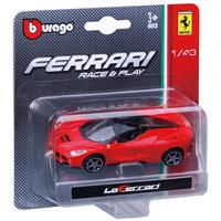 Bburago 1:43 Scale Fereari Race and Play - Red LaFerrari