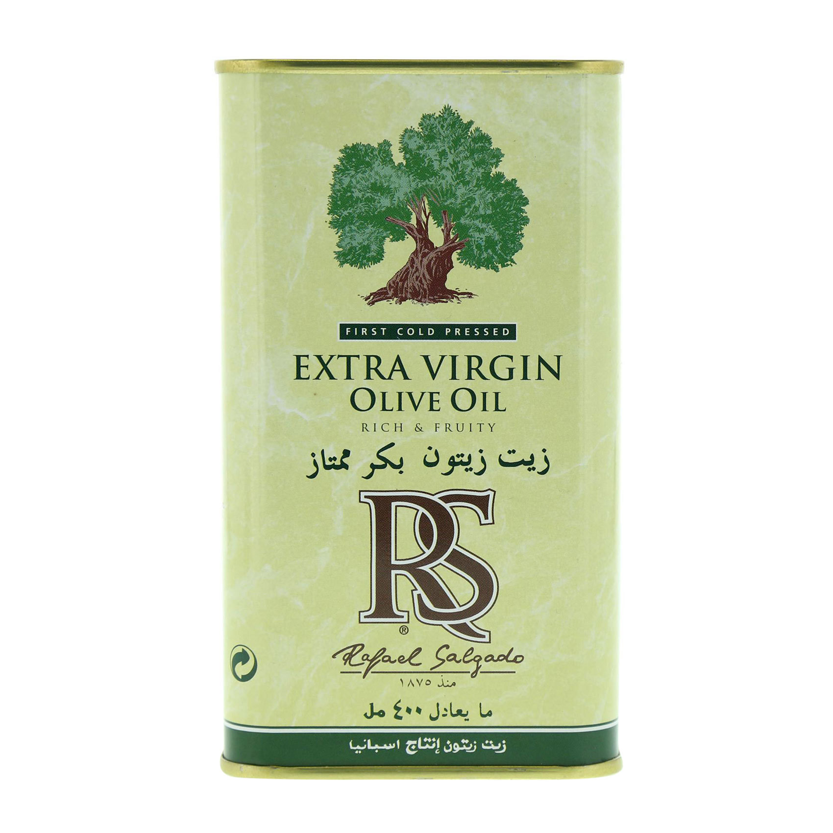 RS OLIVE OIL EXTRA VIRGIN TIN 400ML