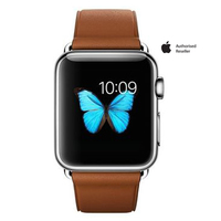Apple Iwatch Stainless Steel 38mm Case Brown Band