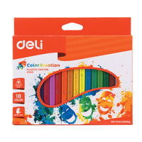 Deli Plastic Crayon 18 Colors