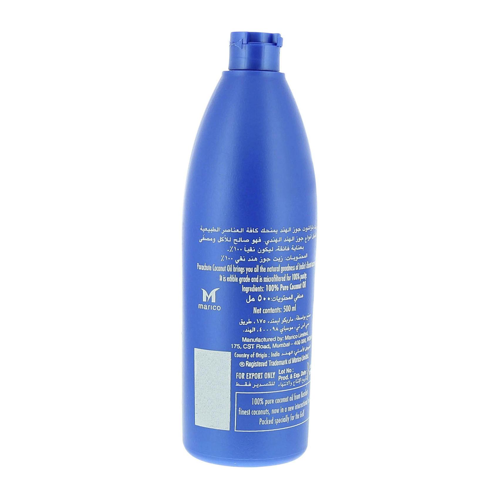 Buy Parachute Pure Coconut Oil 500ml Online In Uae Carrefour Rafael Salgado Olive Pomace Pet 175 Ml
