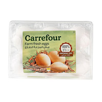 Carrefour Eggs White Medium x6