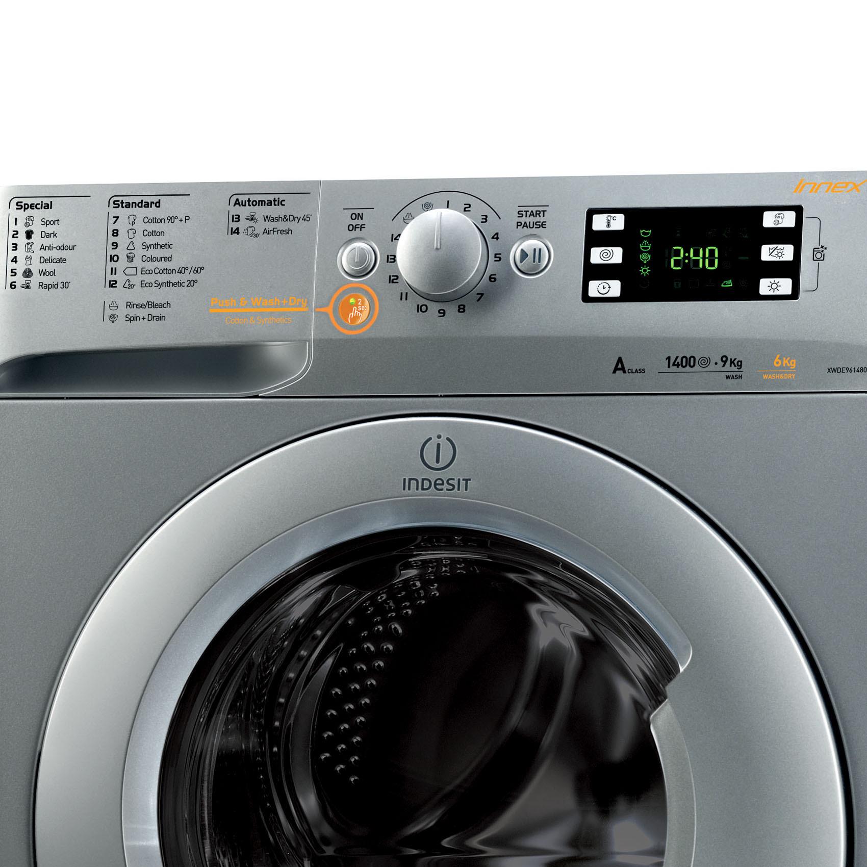 INDESIT W/DRYER XWDE961480X 9/6KG