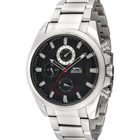 Slazenger Men's Multifunction Display Black Dial Silver Stainless Steel Bracelet - SL.9.6030.2.01