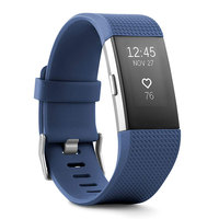 Fitbit Wearable Charge 2 Large Blue Silver