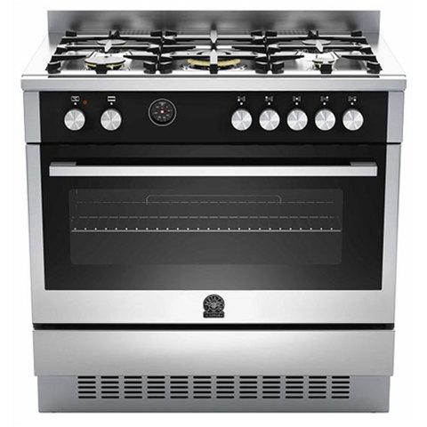 La-Germania-90X60-Cm-Gas-Cooker-TUS-95C61LAX-5Burners-Electric-Oven