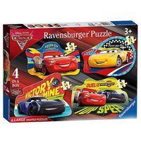 Ravensburger Disney Cars 3 4-in-1 Shaped Jigsaw Puzzle Set