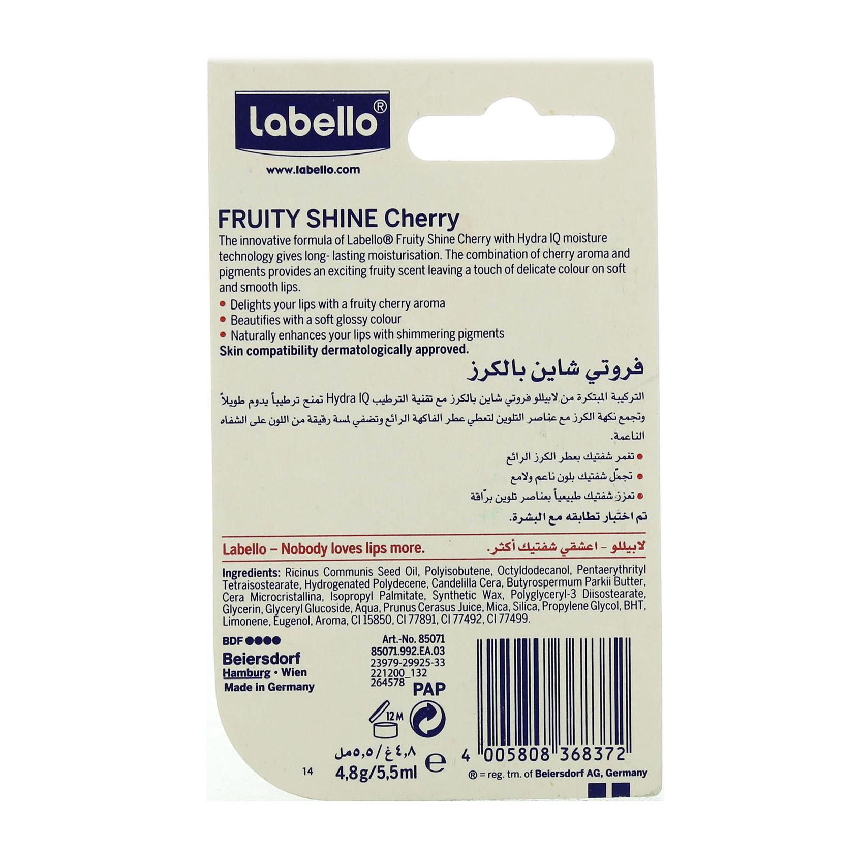LABELLO LIPCARE FRUIT CHERRY4.8GM