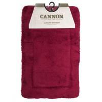 Cannon Acrylic Bath Mat 4pc Set Burgundy