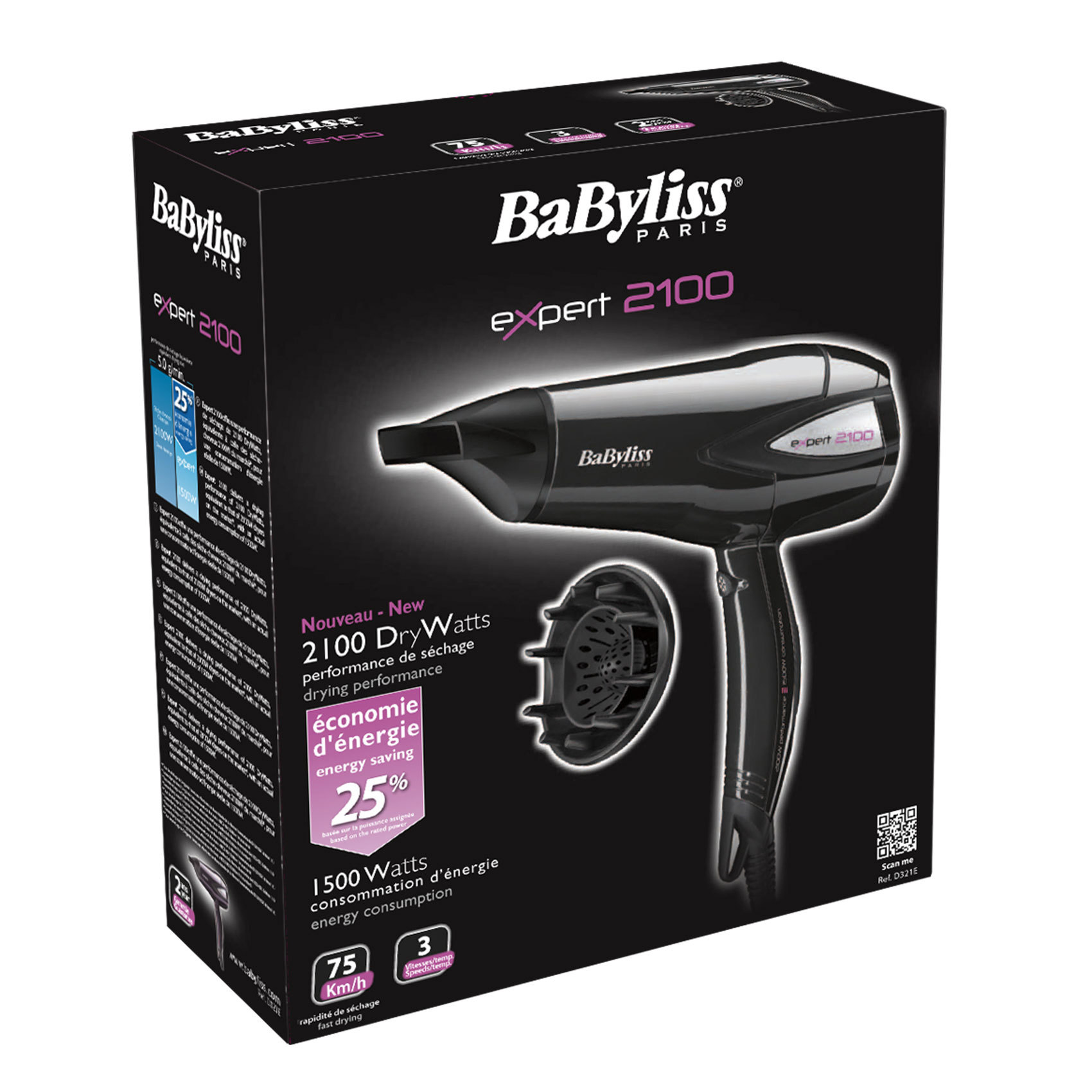 BABYLISS HAIR DRYER D321-WSDE