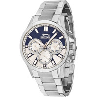 Slazenger Men's Multifunction Display Blue/White Dial Silver Stainless Steel Bracelet - SL.9.6028.2.01