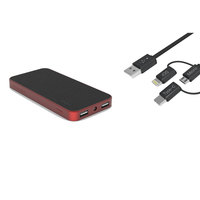 Cellairis Power Bank 7200mAh Red + 3 in 1 Cable