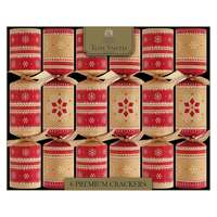 "Tom Smith  6 X 14"" Wb Premium Kraft Crackers  Glitter Baubles"