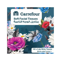 Carrefour Soft Facial Tissues Classic Blue Cube 100s