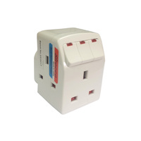 Sirocco 13Amp 3Way Adaptor With Switch