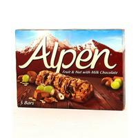 Alpen Cereal Bar Fruit & Nut With Milk Chocolate x 5 Pieces