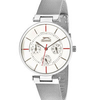 Slazenger Women's Analog Display White Dial Silver Stainless Steel Bracelet - SL.9.6013.4.04