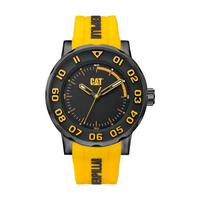 CAT Men's Watch NM Bold II Analog Black Dial Yellow Silicon Band 46mm  Case