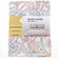 TEX Quilt Cover King Coral