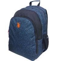 """Janboots Black Pattern Backpack 18"""""""