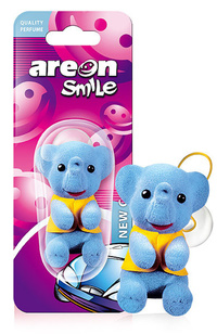 Areon Air Freshener Smile Blue Elephant New Car