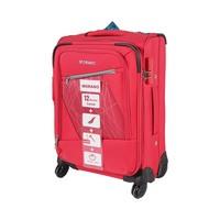 مورانو حقيبة سفر خامة ناعمة 4 عجلات مقاس 20 انش لون أحمر