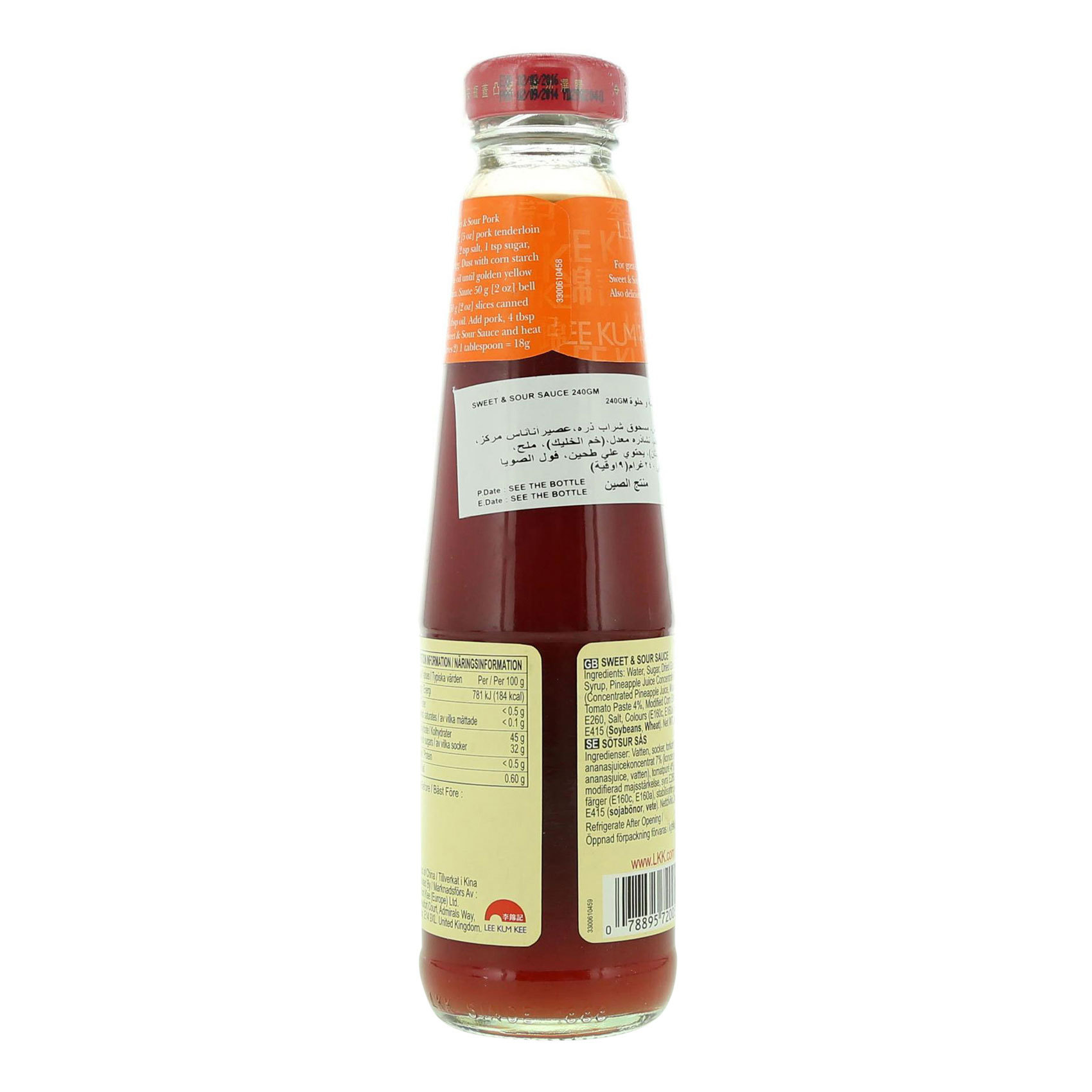 SWEET&SOUR SAUCE LKK 240GM