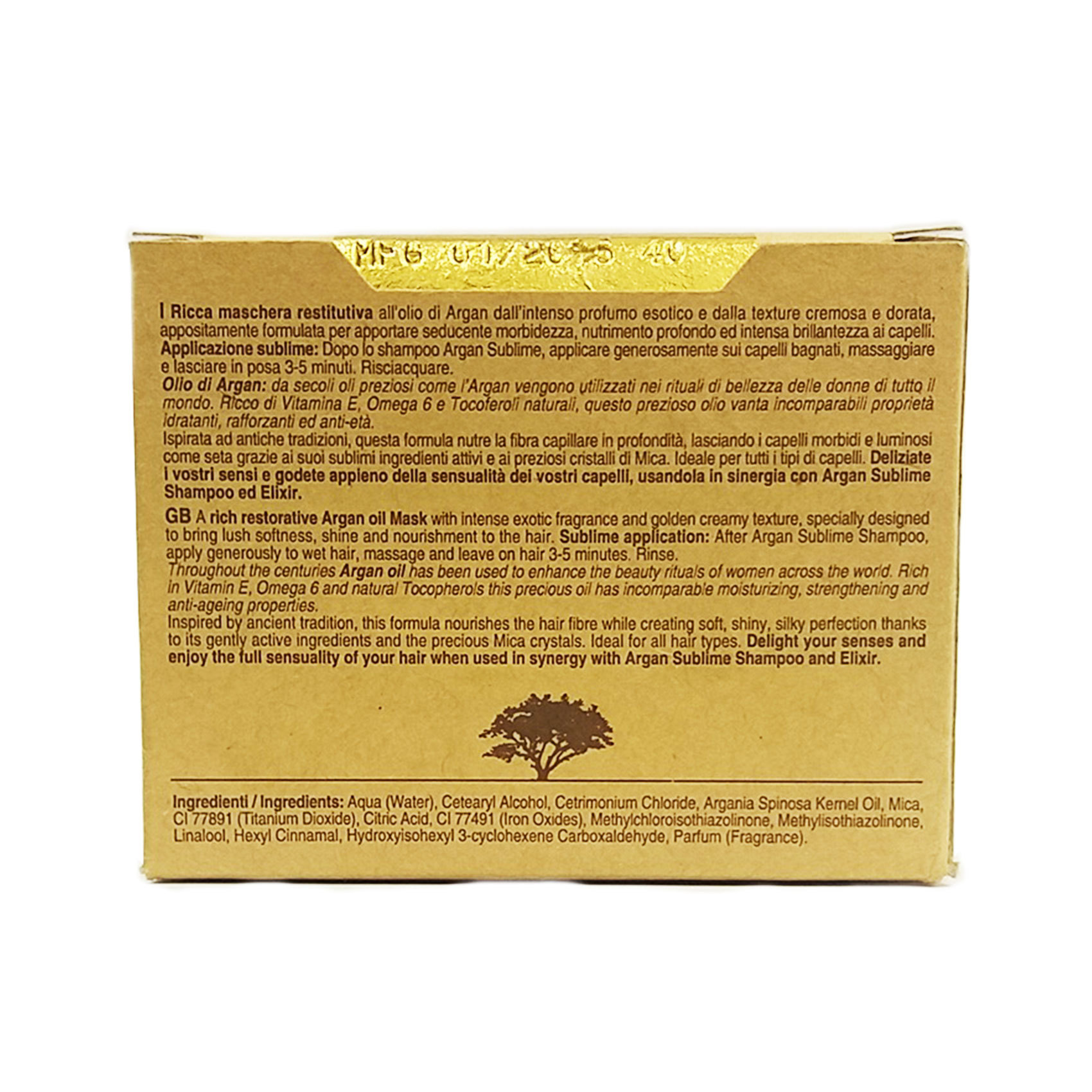 ARGAN OIL MASK 250ML