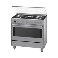 BOSCH Gas Cooker HSG738257M 90X60 Cm Full Safety Stainless Steel