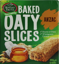 Mother Earth Baked Oaty Slices Anzac 240g