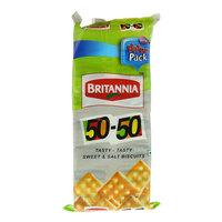 Britannia 50-50 Biscuits 71gx6