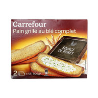 Carrefour Toasted Whole Wheat Bread 500g