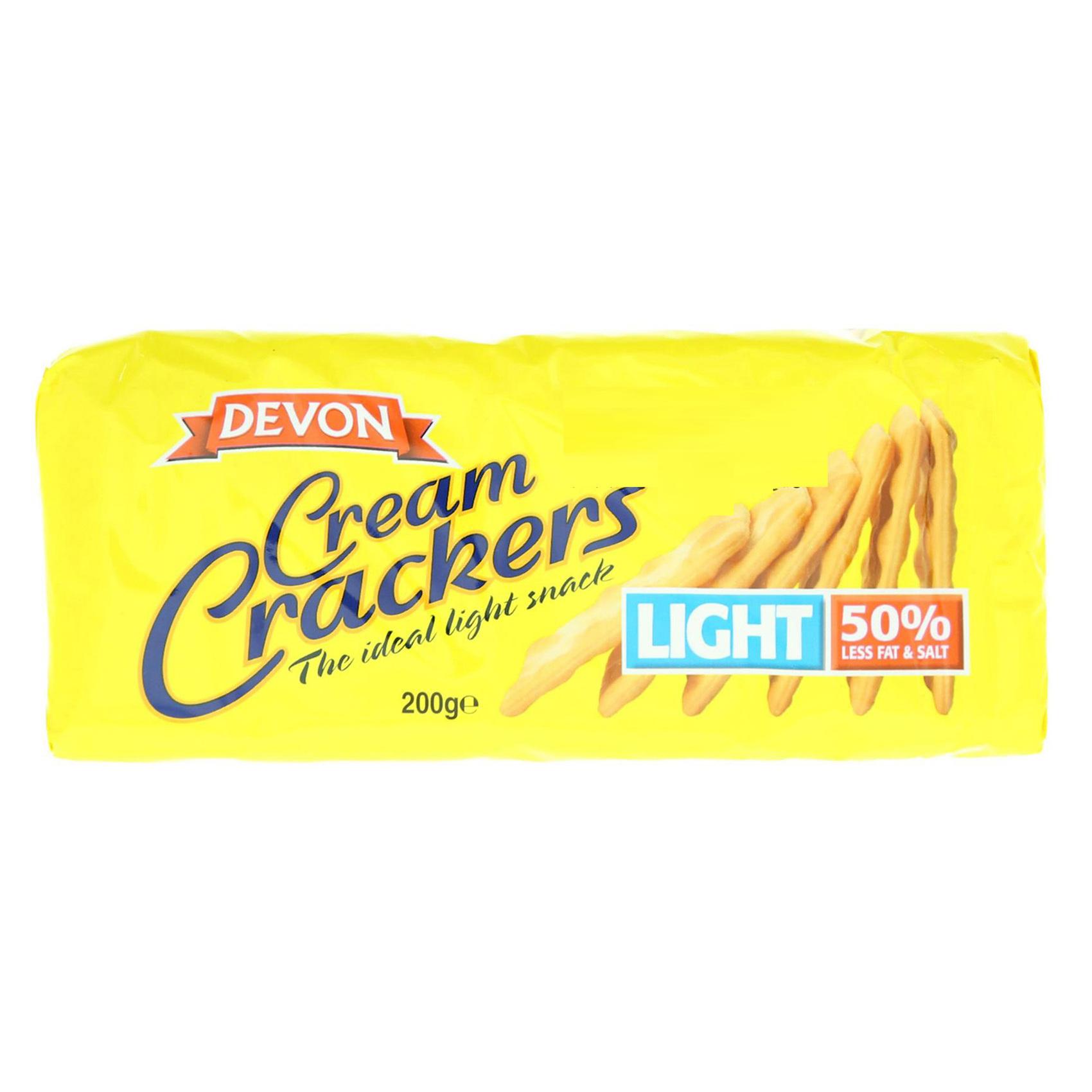 DEVON CREAM CRACKERS LIGHT 200G