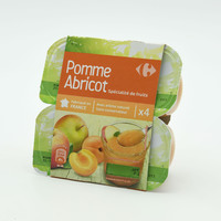 Carrefour Apple And Apricot Compote 100 g x 4