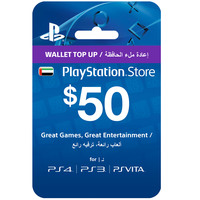 Sony PlayStation Wallet Top Up $50