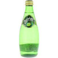 Perrier Natural Sparkling Mineral Water Lime Glass Bottle 330ml