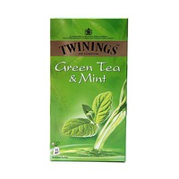 Twinings Green Mint 25 Sachets 12 Count