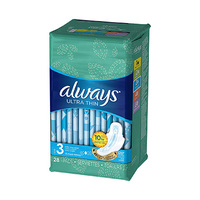 Always Ladies Pads Ultra Thin Long 28 Napkins