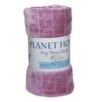 Planet Home Flannel Blanket 220X240 Light Purple