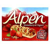 Alpen Strawberry and Yoghurt Cereal Bar 29gx5
