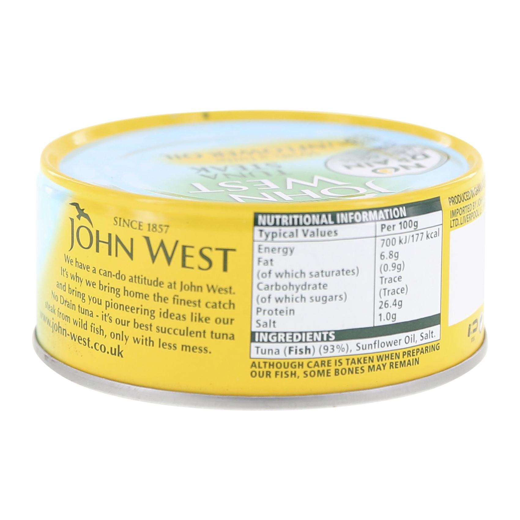 JW NO DRAIN TUNA STK S/OIL 120G